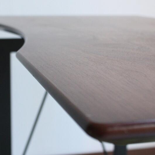 レガート 幅120デスク 人気の天然木ウォールナット突き板を採用
