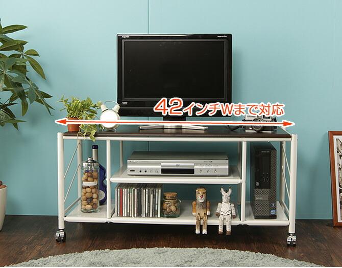 テレビ台 カナル 幅100cm 幅100cmのテレビ台は42インチの液晶テレビまで対応
