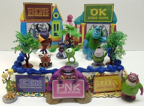 Monsters university monsters university birthday cake topper set featuring sulley mike wazowski randy voltagebd Gallery