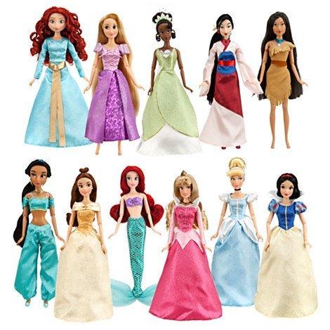 ディズニープリンセス ドール 人形 白雪姫 シンデレラ オーロラ姫 アリエル ベル ジャスミン ポカホンタス ムーラン ティアナ ラプンツェル メリダ