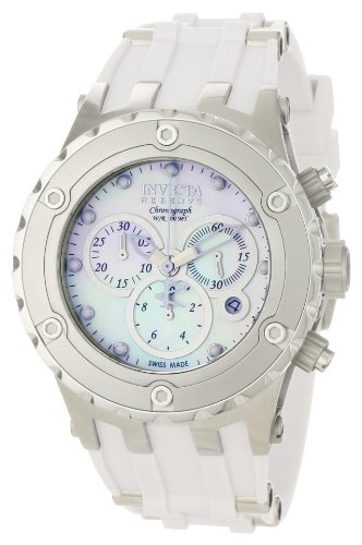 3931b5e179 インビクタ 時計 インヴィクタ メンズ 腕時計 Invicta Men's 0523 Reserve Collection Specialty  Chronograph Midsize White Polyurethane Watch 熱い販売
