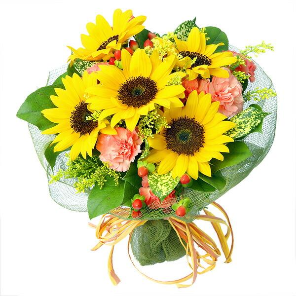 【結婚記念日】ひまわりブーケ 112009 |花キューピットの結婚記念日プレゼント特集2020