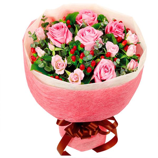 【春の退職祝い・送別会特集】ピンクバラの花束 511085 |花キューピットの2020春の退職祝い・送別会特集特集