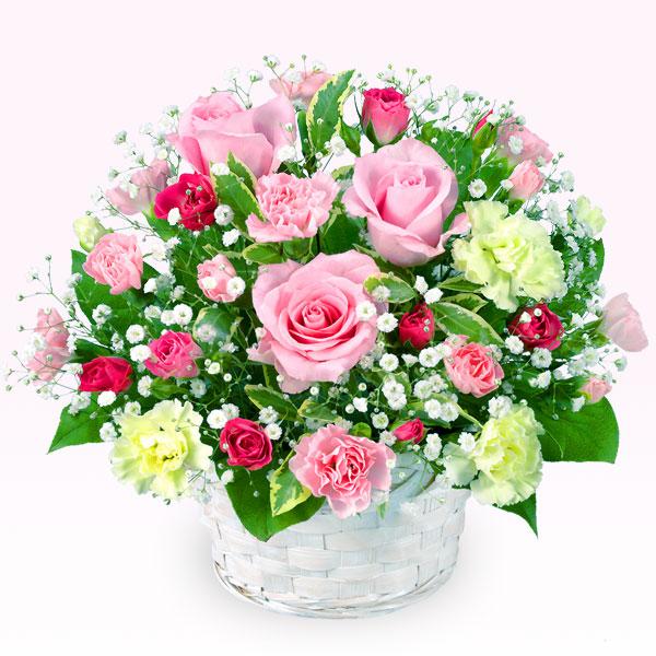 ピンクバラのアレンジメント |フラワーバレンタインにおすすめ!人気のプレゼント特集 2019 |フラワーバレンタイン