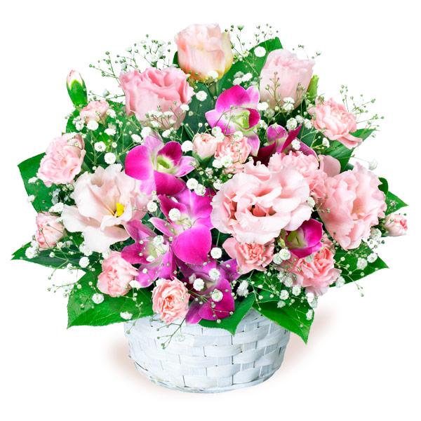 【結婚記念日】トルコキキョウとデンファレのアレンジメント 511587 |花キューピットの結婚記念日プレゼント特集2020