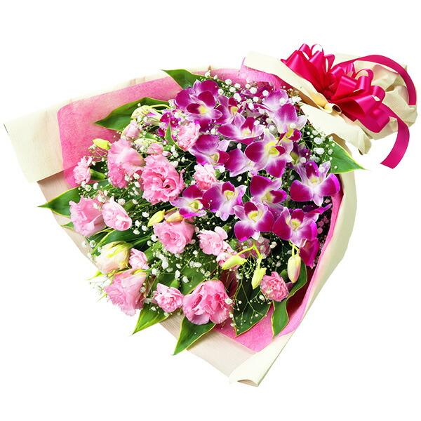 【秋の誕生日】デンファレとトルコキキョウの花束 511893  花キューピットの秋のお祝いプレゼント特集2019