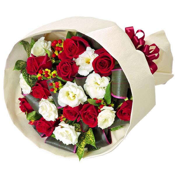 赤バラとトルコキキョウのブーケ |フラワーバレンタインにおすすめ!人気のプレゼント特集 2019 |フラワーバレンタイン