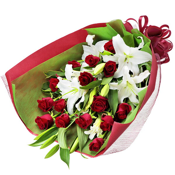 ユリと赤バラの花束 |フラワーバレンタインにおすすめ!人気のプレゼント特集 2019 |フラワーバレンタイン