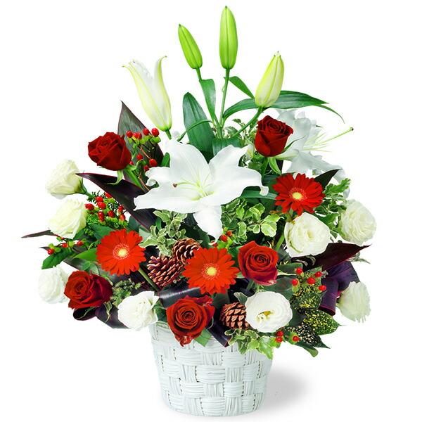 【クリスマスフラワー】ユリのウィンターアレンジメント 511922 |花キューピットの2019クリスマスフラワー特集