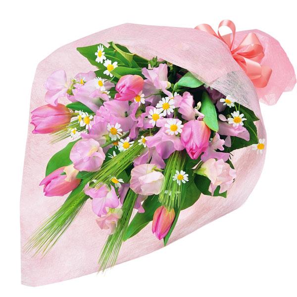 【チューリップ特集】春のふんわり花束 511928 |花キューピットの2020チューリップ特集特集