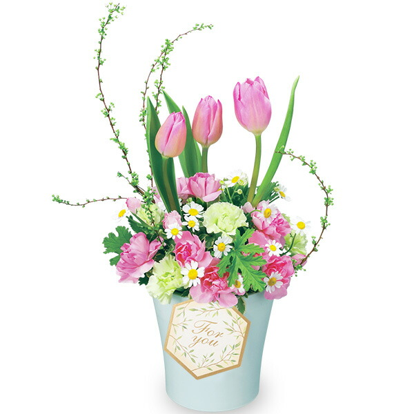 【チューリップ特集】春のチューリップアレンジメント 511943 |花キューピットの2020チューリップ特集特集