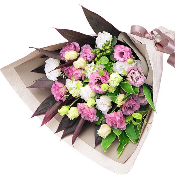 【秋の誕生日】2色トルコキキョウの花束 511988  花キューピットの秋のお祝いプレゼント特集2019