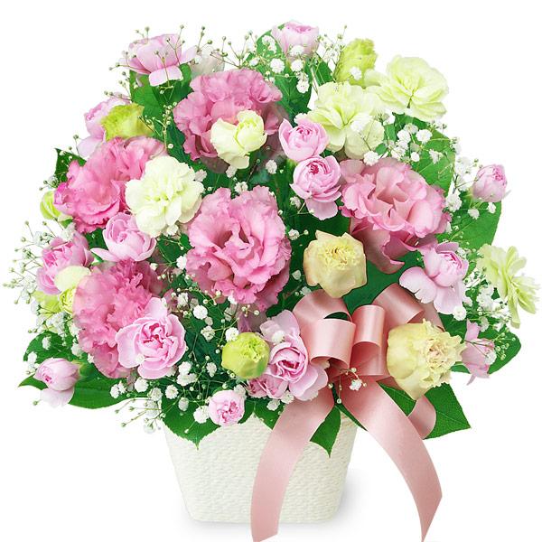 【結婚記念日】トルコキキョウのリボンアレンジメント 511992 |花キューピットの結婚記念日プレゼント特集2020
