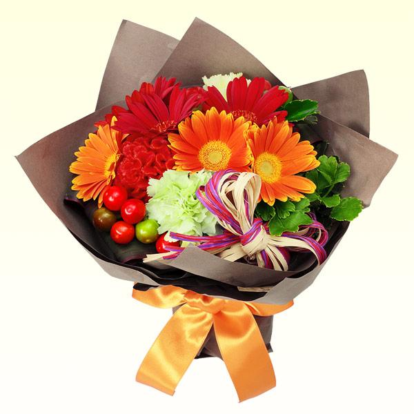 【秋の花贈り】ハロウィン風ブーケ 512043 |花キューピットの2019秋のお祝いプレゼント特集