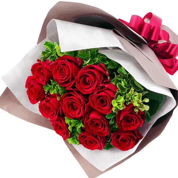 【秋の結婚記念日】ダズンローズの花束 512045 |花キューピットの2019秋のお祝いプレゼント特集
