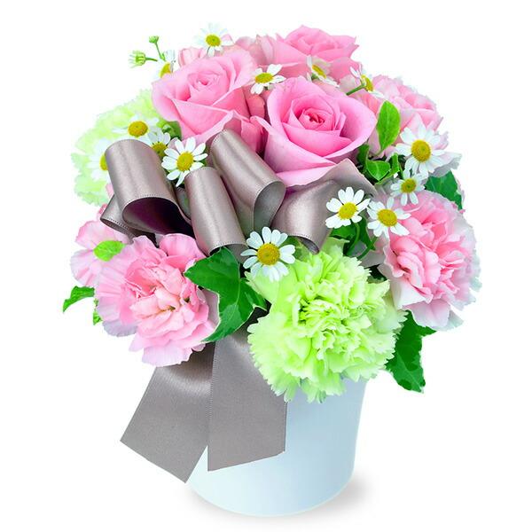 【秋の結婚記念日】ピンクバラのナチュラルアレンジメント 512046 |花キューピットの2019秋のお祝いプレゼント特集