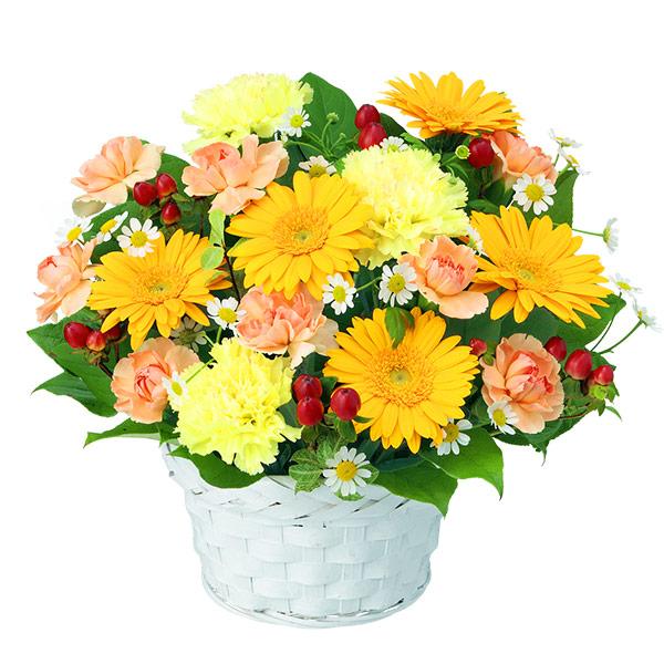 【秋の発表会・展覧会】イエローガーベラのアレンジメント 512047 |花キューピットの2019秋のお祝いプレゼント特集