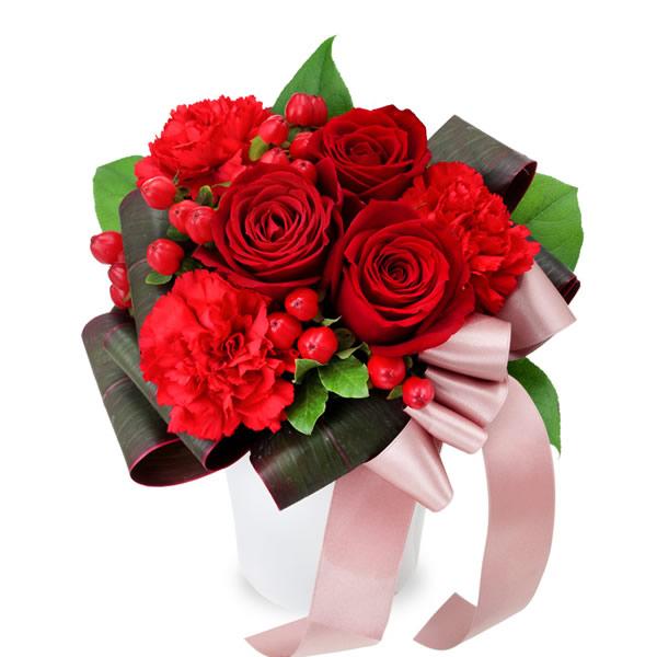 【秋の結婚記念日】赤バラのエレガントアレンジメント 512058 |花キューピットの2019秋のお祝いプレゼント特集