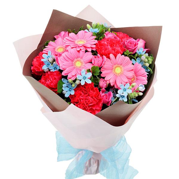 【秋の結婚記念日】ピンクとブルーの鮮やかブーケ 512063 |花キューピットの2019秋のお祝いプレゼント特集