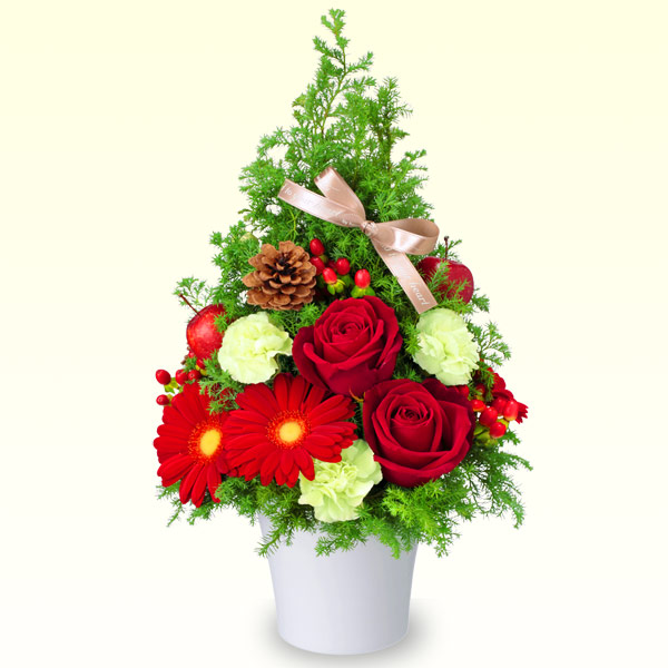 【クリスマス】クリスマスのツリー風アレンジメント 512068 |花キューピットのクリスマスプレゼント特集2020