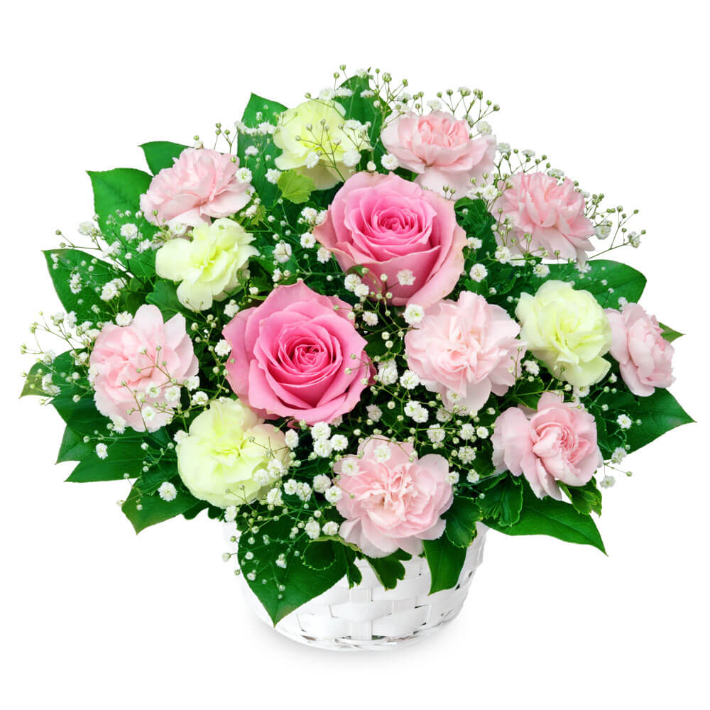 【バレンタイン特集】ピンクバラのアレンジメント 512120 |花キューピットのフラワーバレンタイン特集2020
