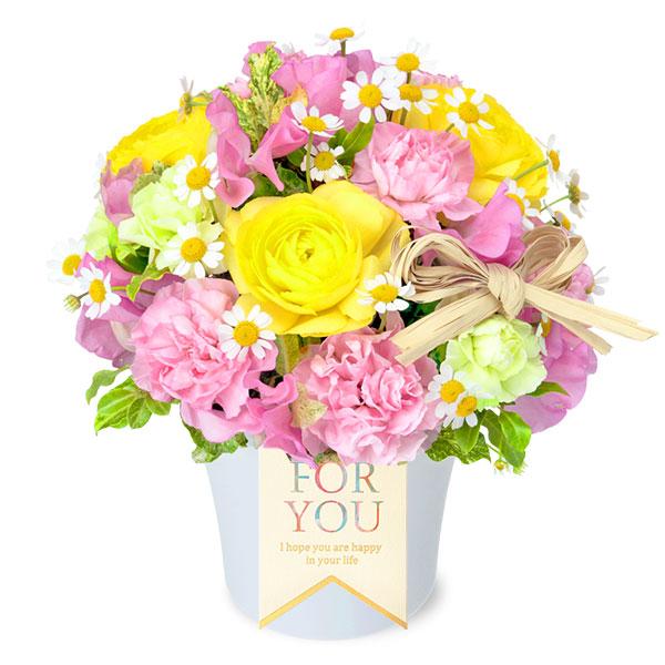 【バレンタイン特集】ラナンキュラスとスイートピーのナチュラルアレンジメント 512144 |花キューピットのフラワーバレンタイン特集2020