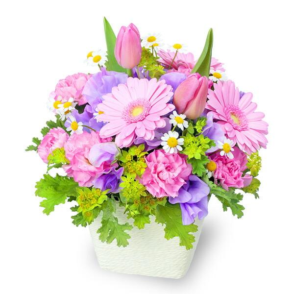 【春の誕生日】春のガーデンアレンジメント(ピンク) 512164 |花キューピットの2020春の誕生日特集