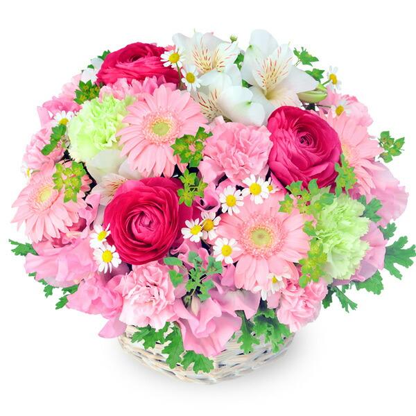 【春の誕生日】春の花のピンクアレンジメント 512173 |花キューピットの2020春の誕生日特集