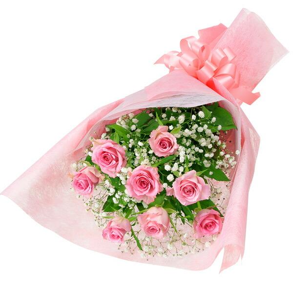 【春の退職祝い・送別会特集】ピンクバラの花束 512195 |花キューピットの2020春の退職祝い・送別会特集特集
