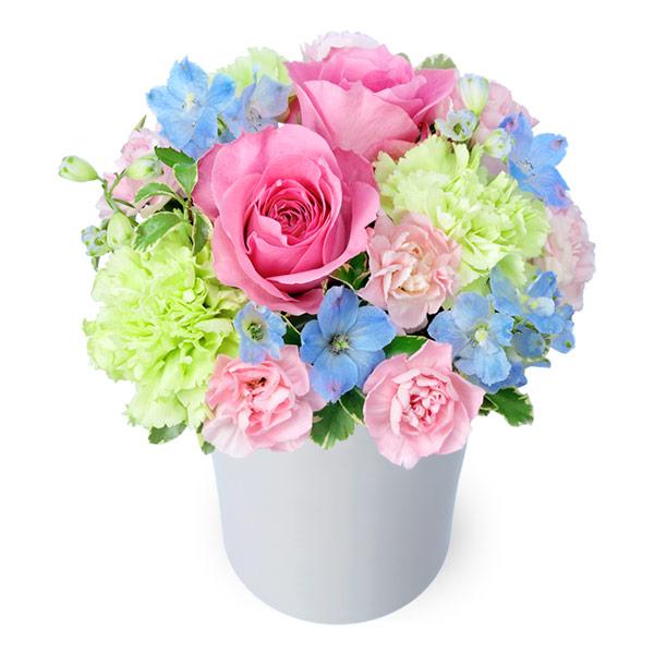 【結婚記念日】ピンクバラのパステルアレンジメント 512200 |花キューピットの結婚記念日プレゼント特集2020