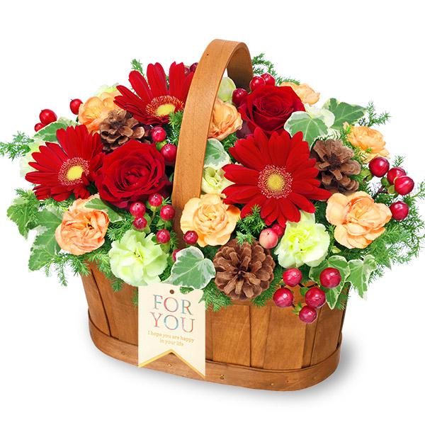【クリスマス】クリスマスのハーモニーバスケット 512272 |花キューピットのクリスマスフラワーギフト特集2020