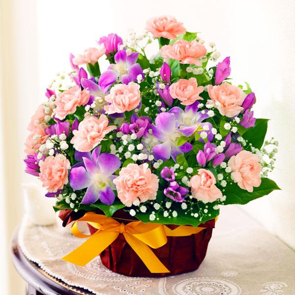 【敬老の日】秋のピンクアレンジメント 522067 |花キューピットの2019敬老の日プレゼント特集