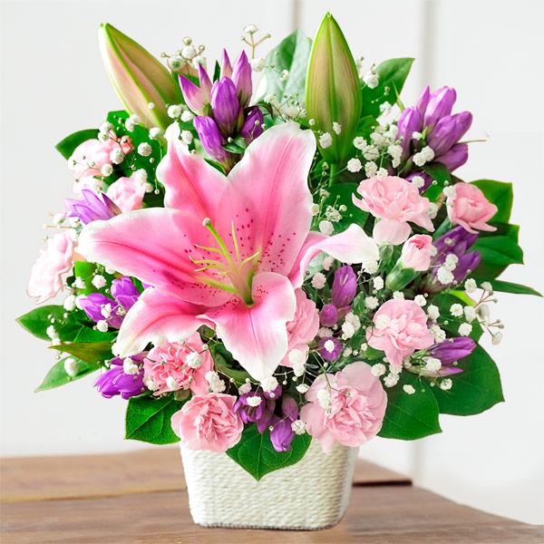 【敬老の日】ピンクユリのバスケット 522081 |花キューピットの2019敬老の日プレゼント特集