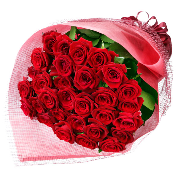 【秋の結婚記念日】30本の赤バラの花束 613043 |花キューピットの2019秋のお祝いプレゼント特集