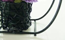 編み込みの花器