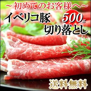 【送料無料】イベリコ豚切り落とし500g