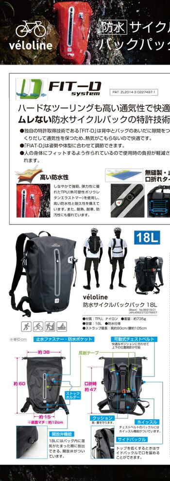 veloline防水サイクルバック18L