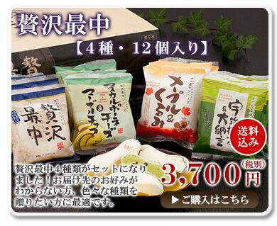 贅沢最中【4種・12個入り】送料込み3600円