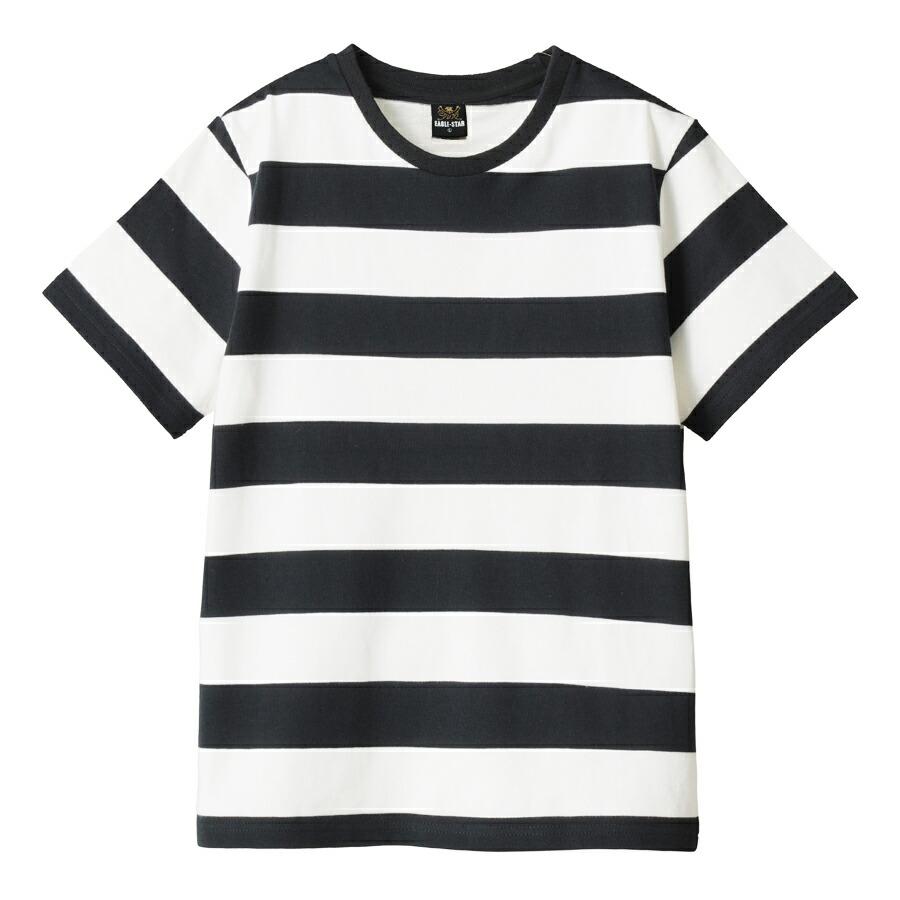 クルーネック ボーダー Tシャツ 半袖