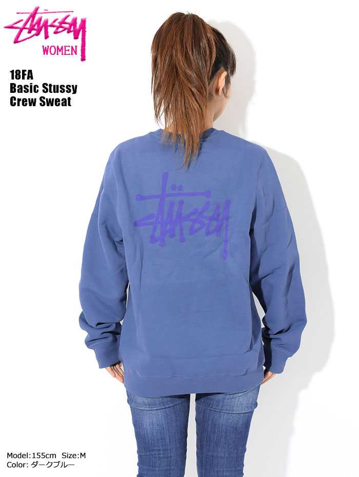 STUSSYステューシーのトレーナー WOMEN 18FA Basic Stussy Crew Sweat01