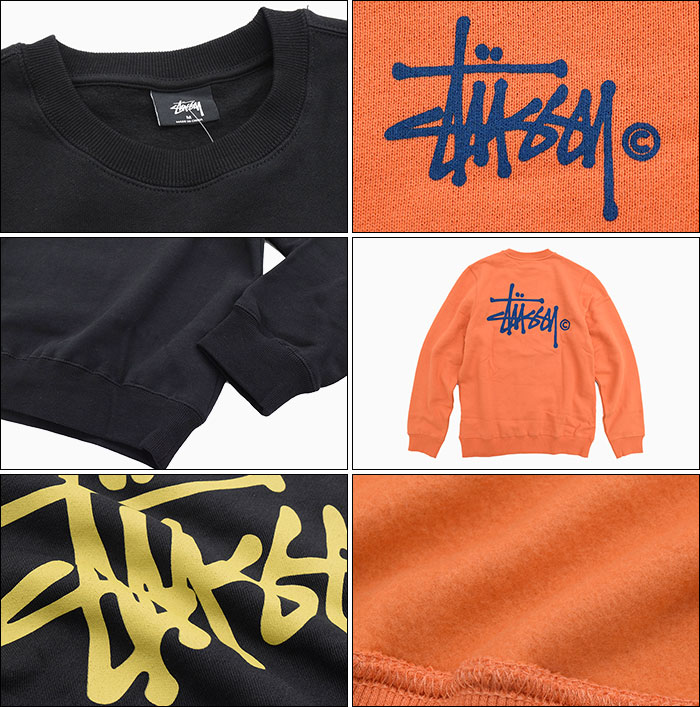 STUSSYステューシーのトレーナー WOMEN Basic Logo Crew Sweat08
