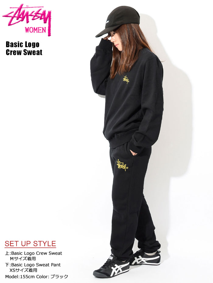 STUSSYステューシーのトレーナー WOMEN Basic Logo Crew Sweat01