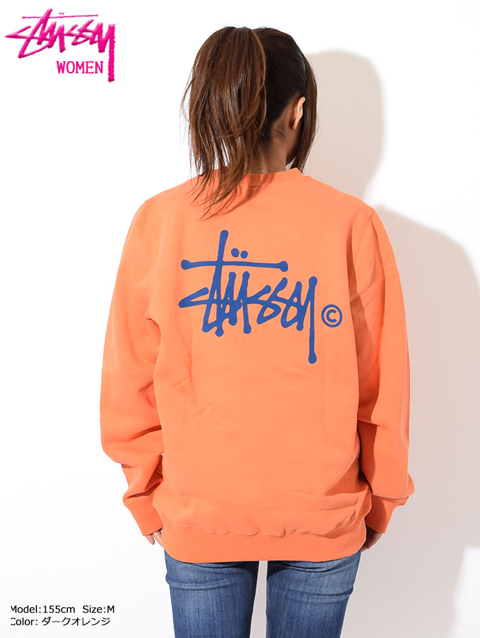 STUSSYステューシーのトレーナー WOMEN Basic Logo Crew Sweat05