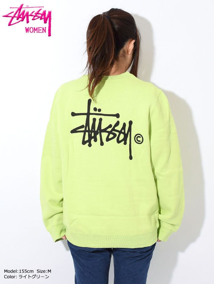 STUSSYステューシーのトレーナー WOMEN Basic Logo Crew Sweat06