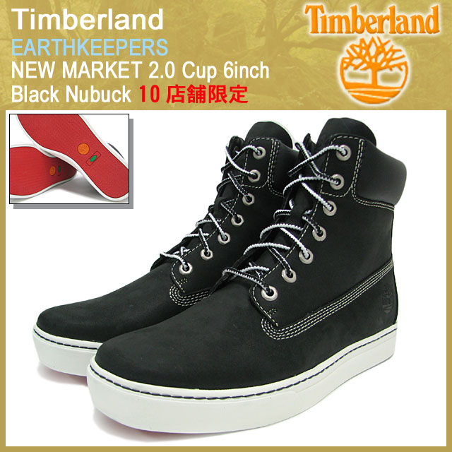 Timberland Timberland boots Earthkeepers Newmarket 2.0 Cup 6 inch black nubuck (6668 R men's EARTHKEEPERS NEW MARKET 2.0 Cup 6inch Black Nubuck Boot