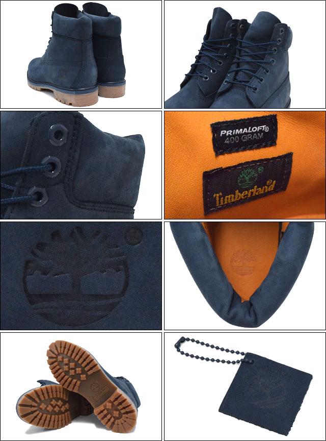 Mens Timberland 6 Tommers Premium Vanntett Støvler Marineblå 5a100s