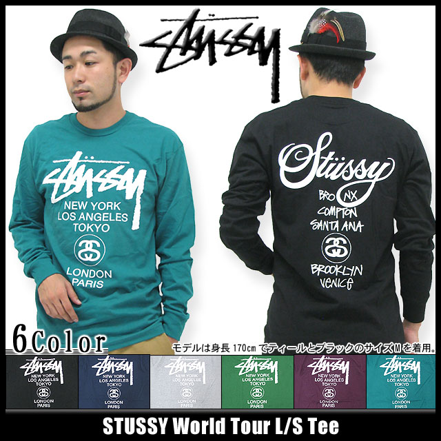 ice field  Stussy STUSSY World Tour T shirt long sleeve (stussy tee ... 985cb70cf067