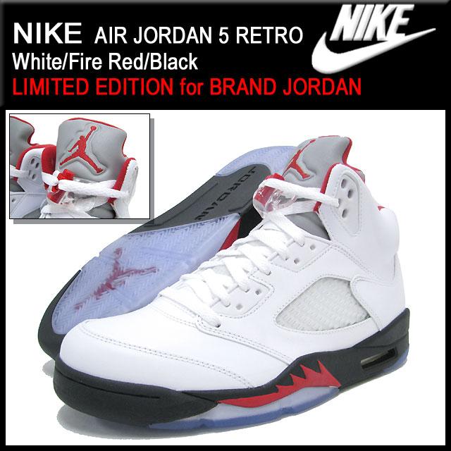 【楽天市場】ナイキ NIKE スニーカー エア ジョーダン 5 レトロ White/Fire Red/Black メンズ(男性用) (nike AIR  JORDAN 5 RETRO BRAND JORDAN Sneaker sneaker ...