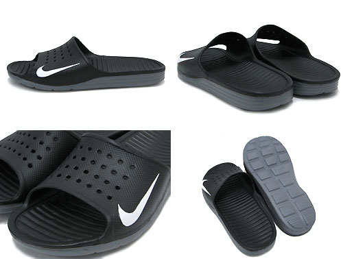 5505e43119b ice field  Nike NIKE Sandals solar soft slide Black White men (men s ...