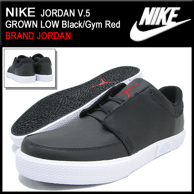 463d908a924a09 Nike NIKE sneakers Jordan V.5 grown low Black Gym Red men (men s) (nike JORDAN  V.5 GROWN LOW BRAND JORDAN Sneaker sneaker SNEAKER MENS-shoes shoes SHOES  ...